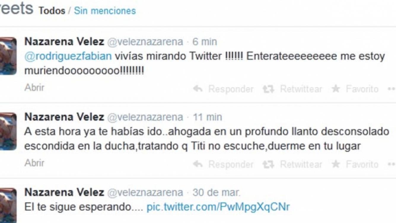 Nazarena Vélez y un tweet desgarrador por la muerte de su ex pareja.