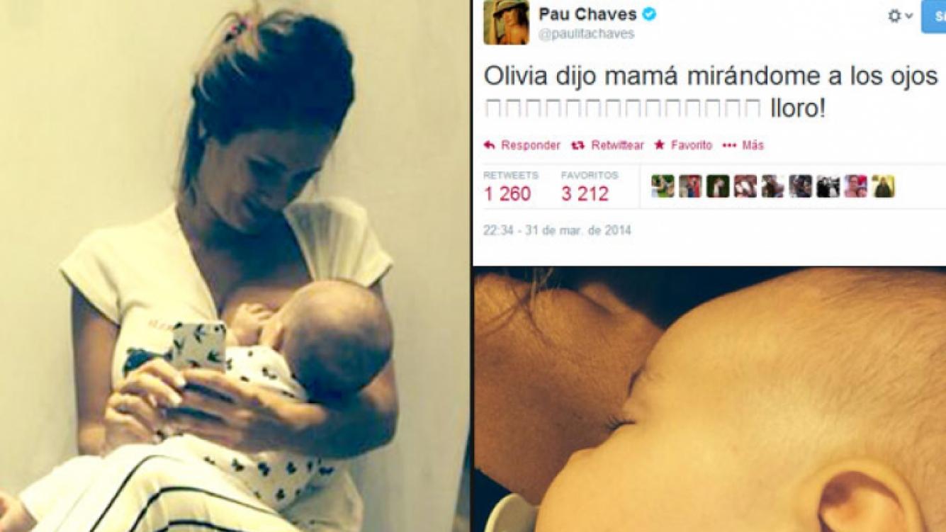 La emoción de Paula Chaves. (Foto: Twitter)