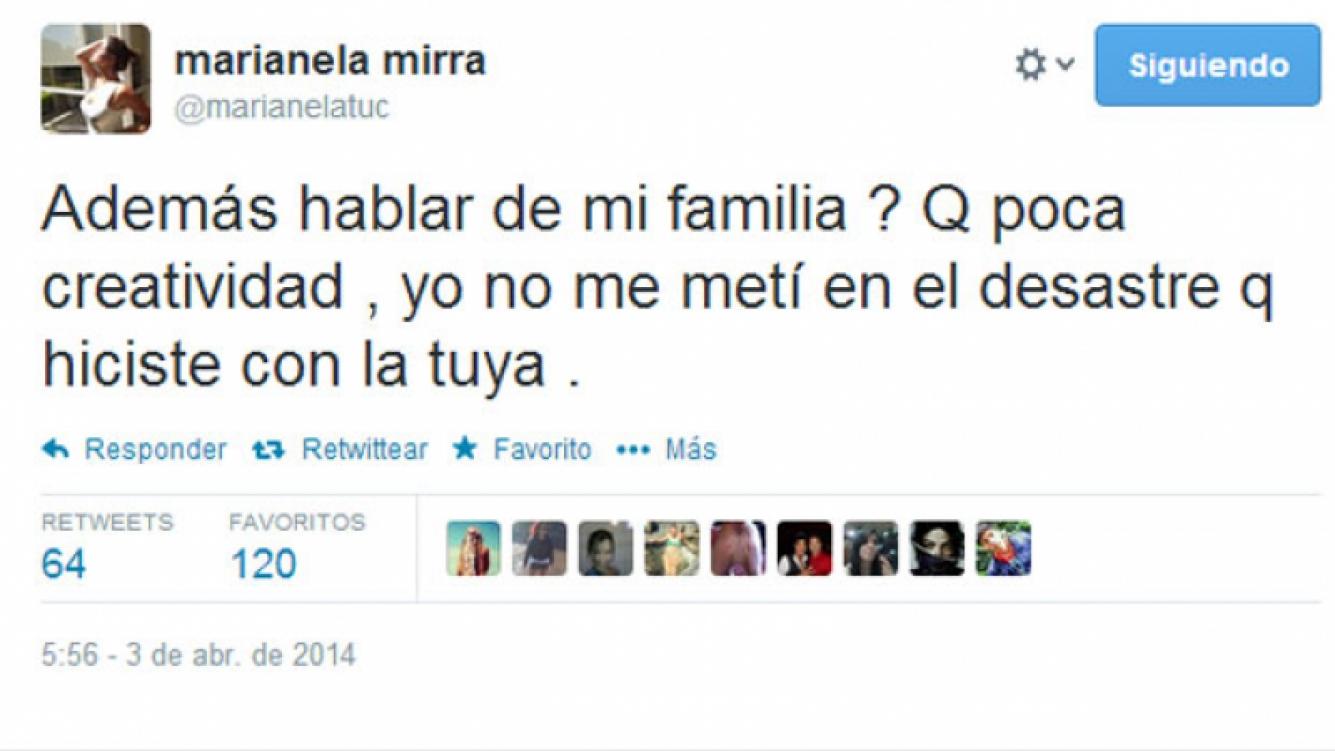 Marianela twitteó nuevamente contra Jorge Rial (Fotos: Twitter).