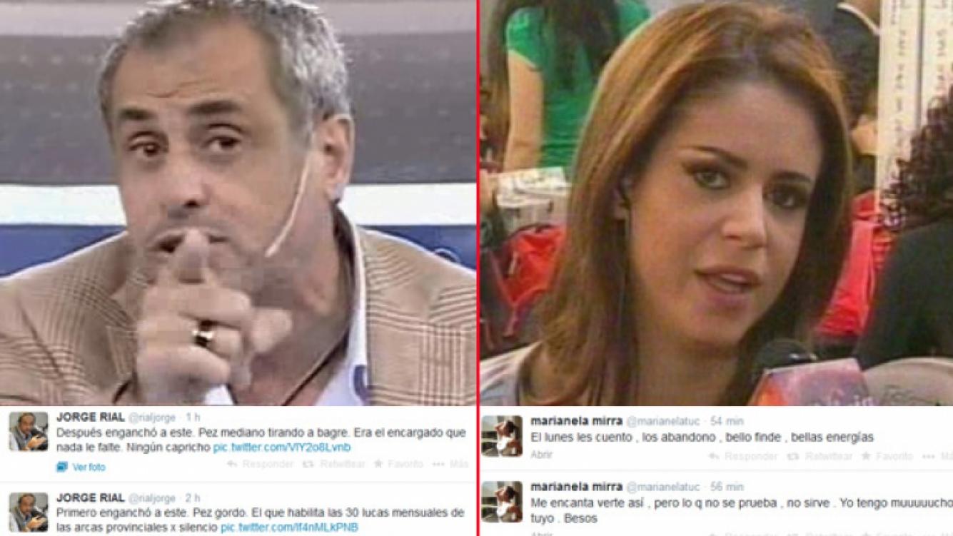 Jorge Rial y Marianela Mirra, enfrentadísimos. (Foto: Web)