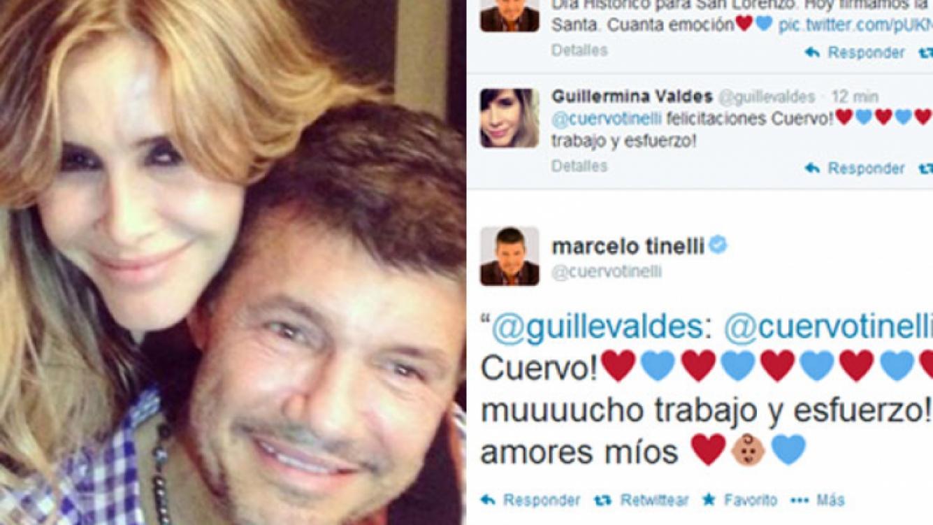 El dulce y colorido saludo de Guillermina Valdés a Marcelo Tinelli por la vuelta a Boedo. (Fotos: Twitter)