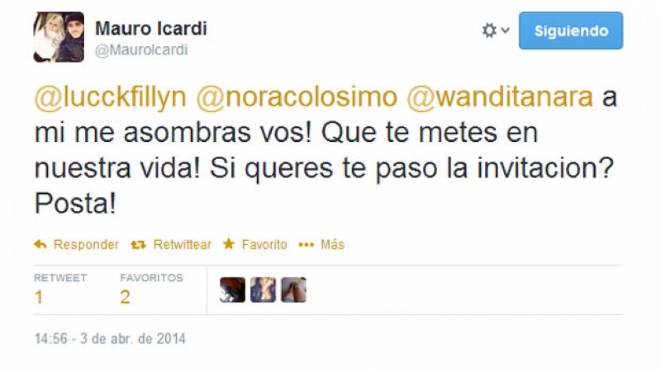 Icardi se enojó por las críticas en la red social (Foto: Captura).