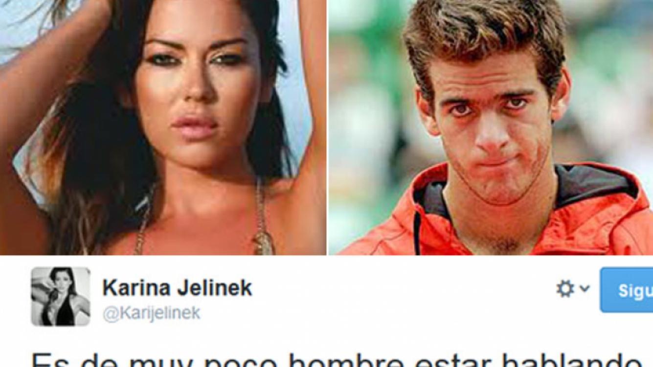 Jelinek, enojadísima con Delpo. (Fotos: Web y Twitter)