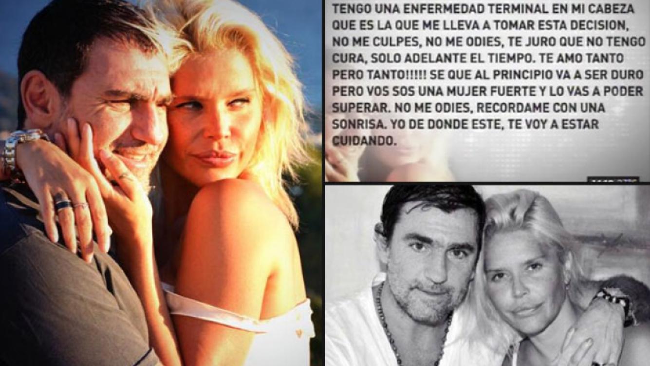La última carta de Fabián Rodríguez a Nazarena Vélez. (Foto: Twitter y captura de TV)