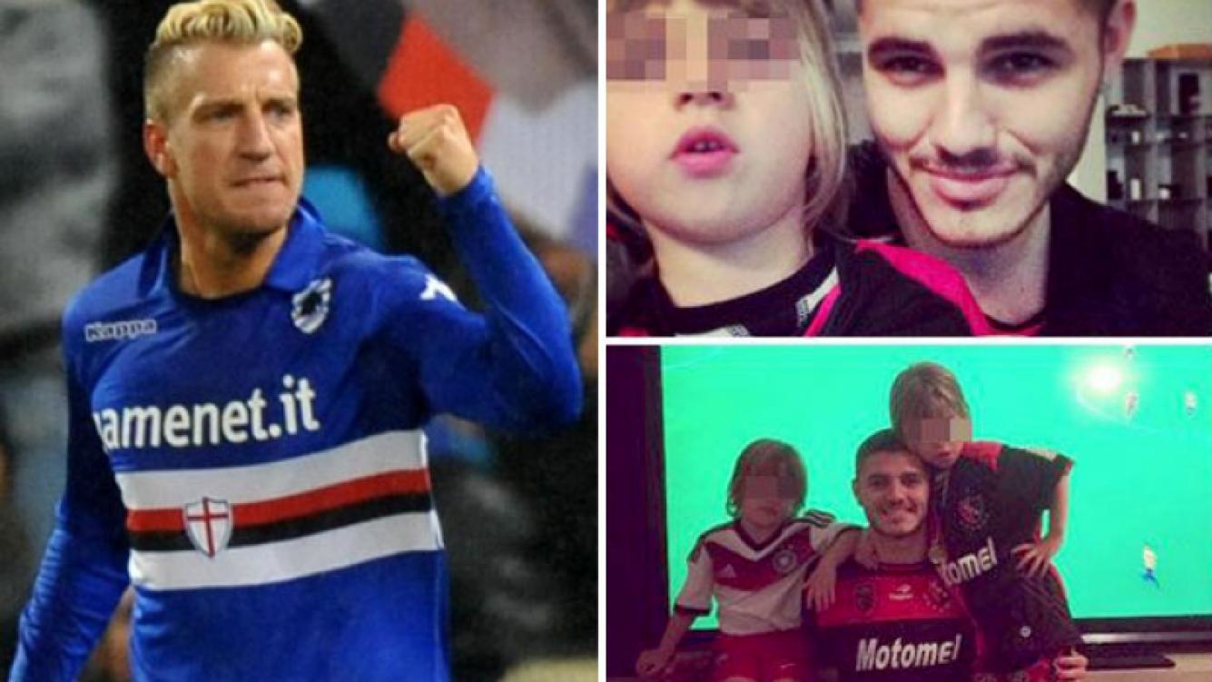 Maxi López y las polémicas fotos de sus hijos con Mauro Icardi. (Fotos: Web y Twitter)
