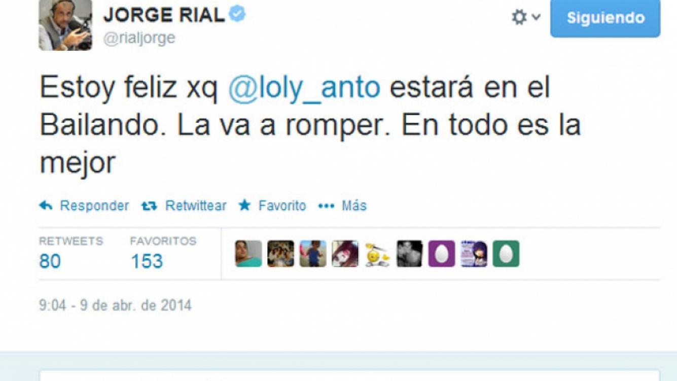 Jorge Rial confirmó que Loly estará en el Bailando (Fotos: Captura).