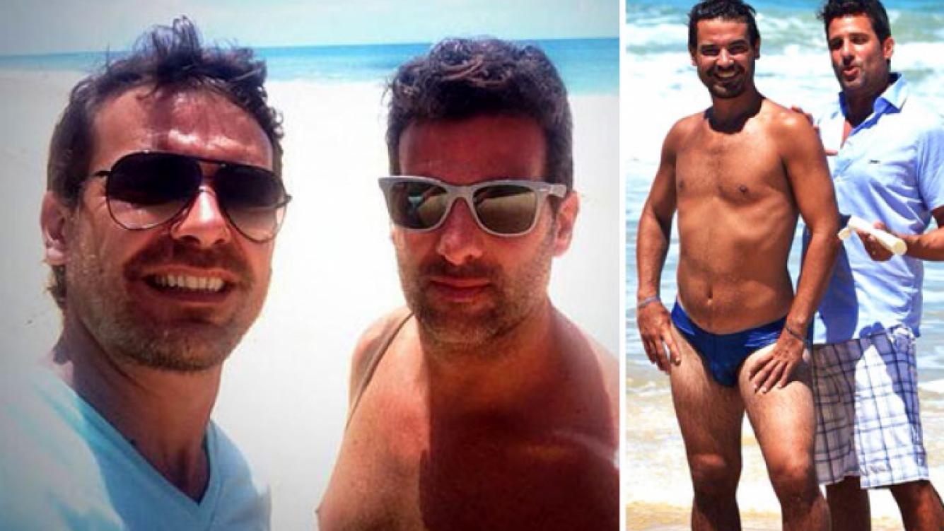 Peter Alfonso se animó a la sunga, en Brasil. (Foto: Twitter)
