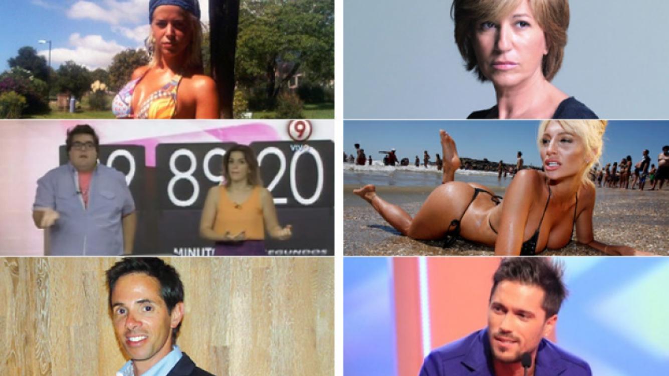 Marianela Mirra, 90 días o menos, Robertito Funes, Mercedes Morán, Vicky Xipolitakis y Bam Bam Morais. (Fotos: archivo Web)