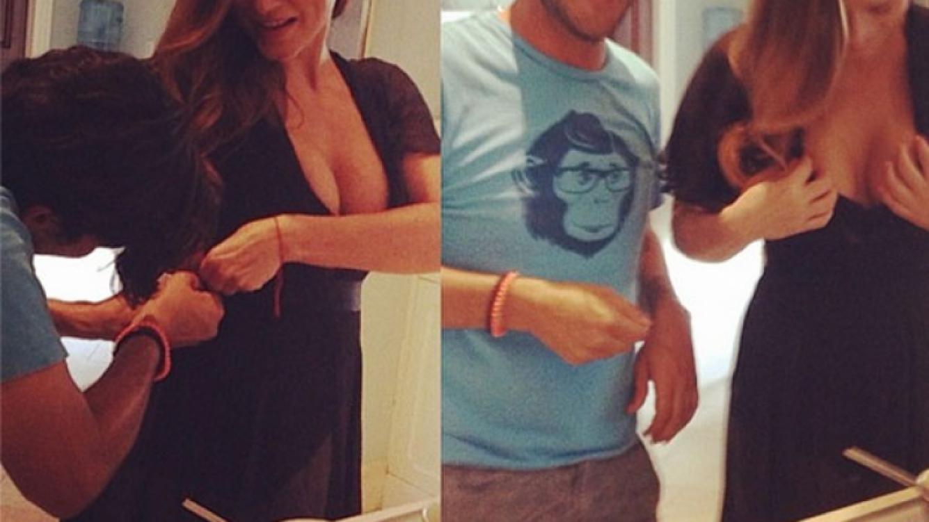 Lola Ponce: percance hot con su súper escote. (Instagram)
