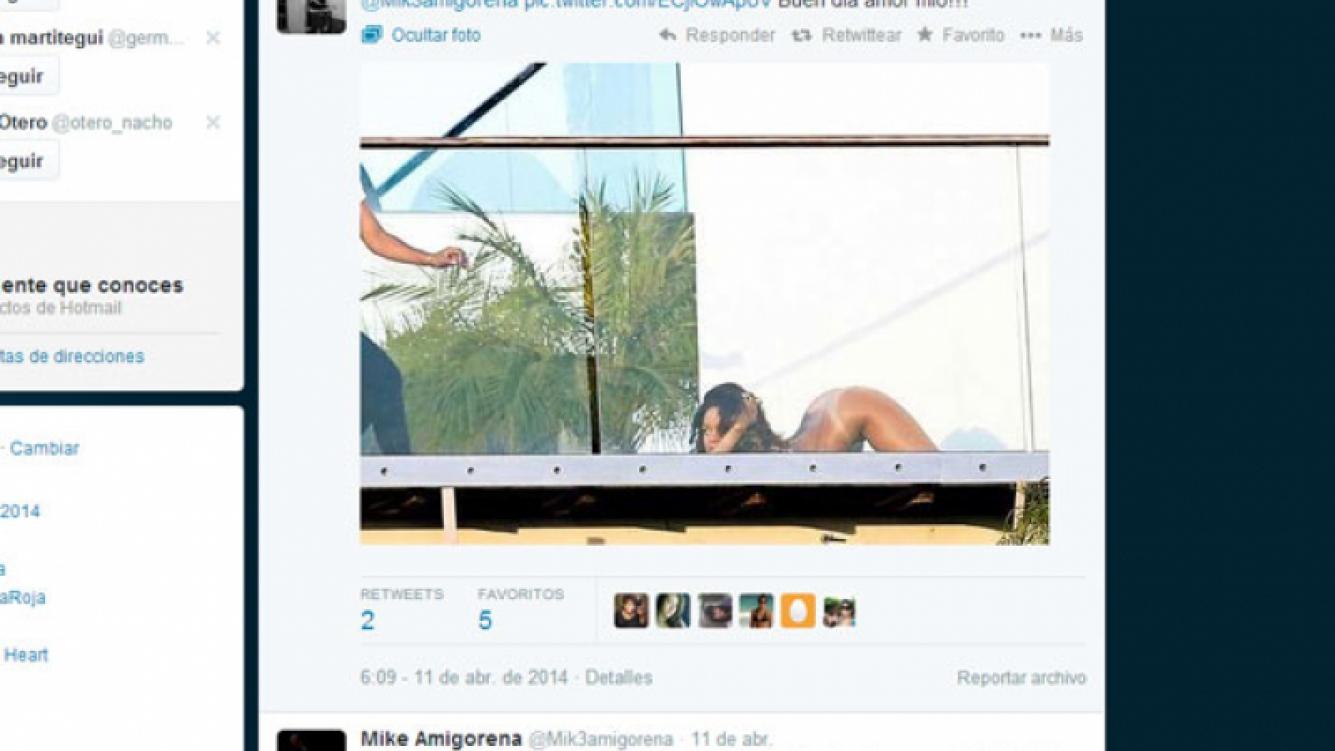 Las fotos y mensajes de amor de Mónica Antonópulos y Mike Amigorena (Fotos: Twitter).