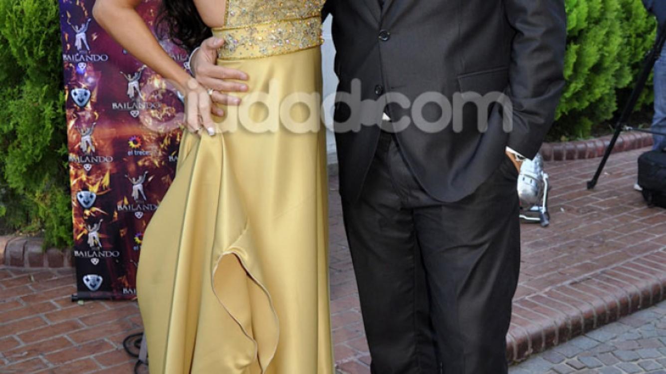 Sabrina Ravelli y Matías Alé en la presentación del Bailando 2014 (Foto: Jennifer Rubio).