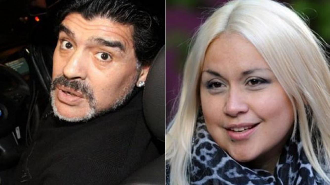 Diego Maradona y Verónica Ojeda. (Foto: Web)