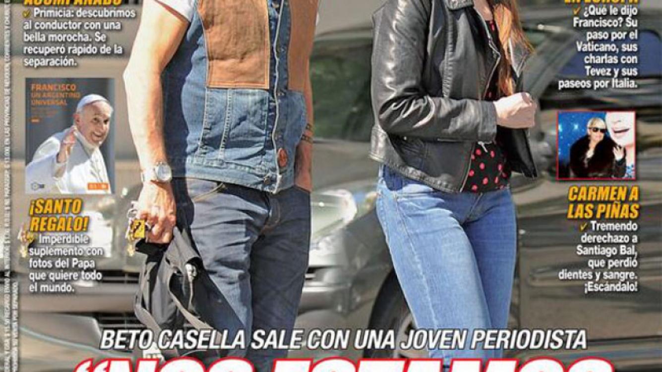 Beto Casella y Carolina Wyler, juntos. (Fotos: revista Paparazzi)