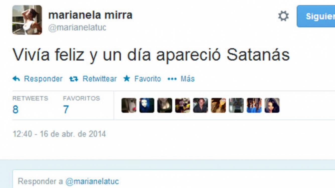 Marianela Mirra volvió con todo a Twitter (Fotos: Twitter).