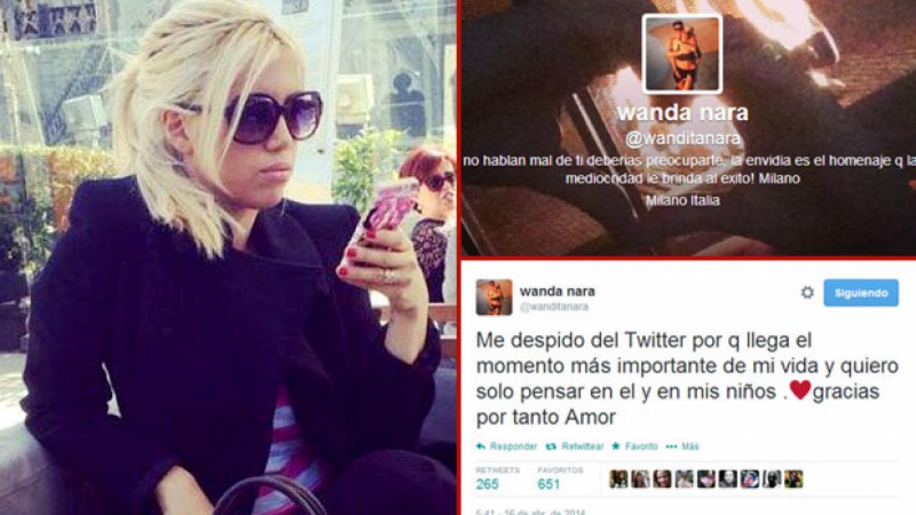 Wanda Nara se despidió de Twitter. (Foto: Twitter)