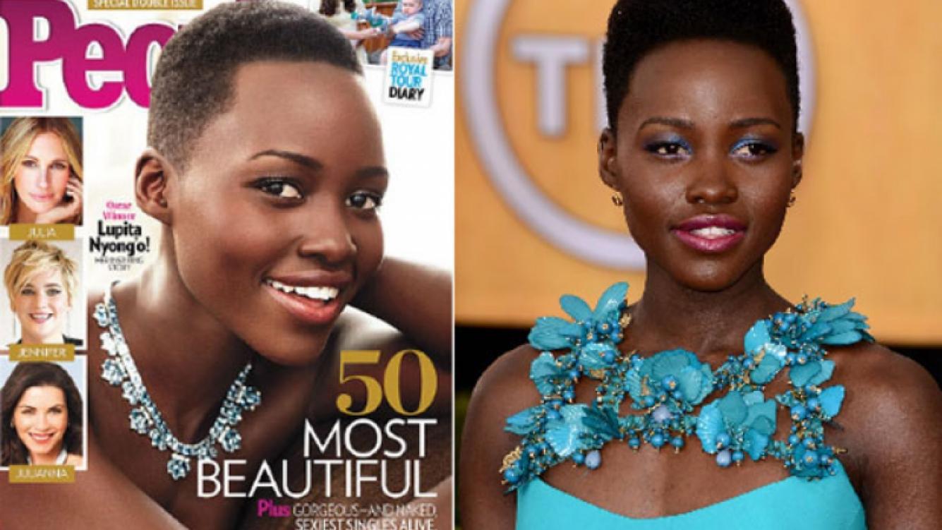 Lupita Nyong o fue elegida la mujer más bella del mundo por la revista People. (Foto: Web)