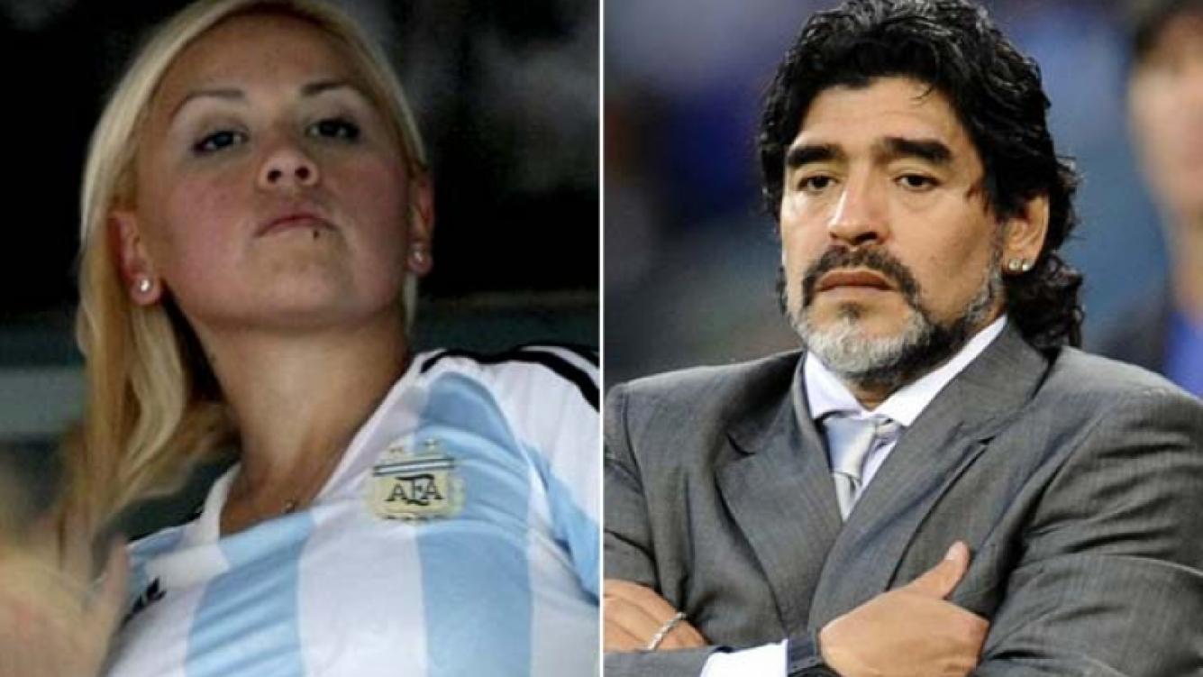 Verónica Ojeda y Diego Maradona deberán resolver la división de bienes. (Foto: Web.)