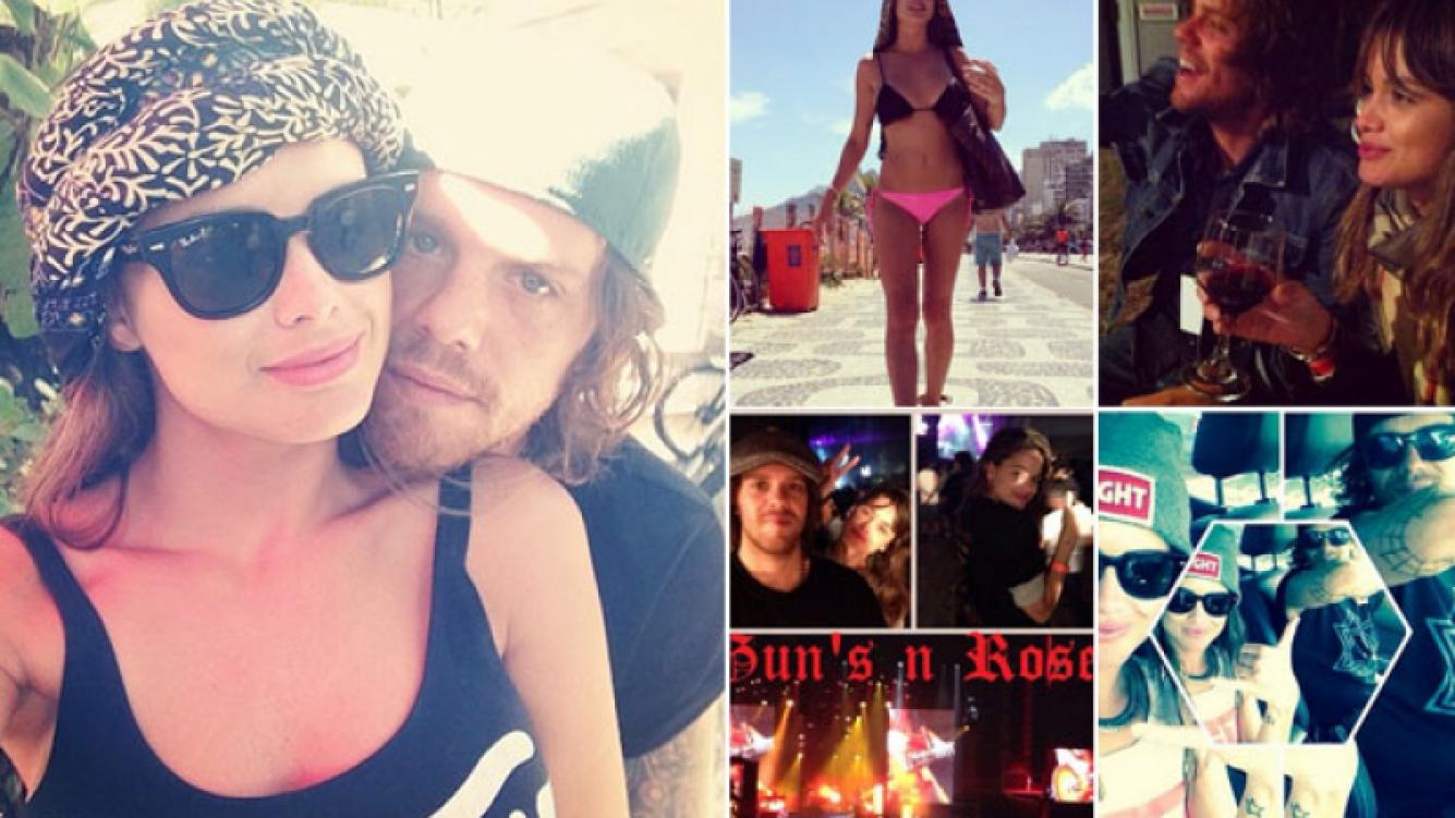 Vitto Saravia, tres meses de amor y rock. (Foto: Instagram)