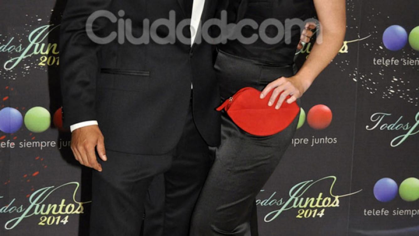 Estevanez y Zampini, juntos en la fiesta de Telefe (Foto: Jennifer Rubio).