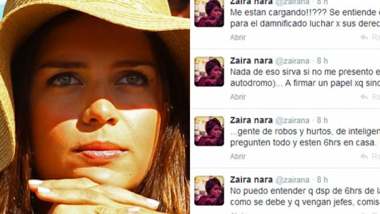 La catarsis tuitera de Zaira Nara. (Foto: Web y Twitter)