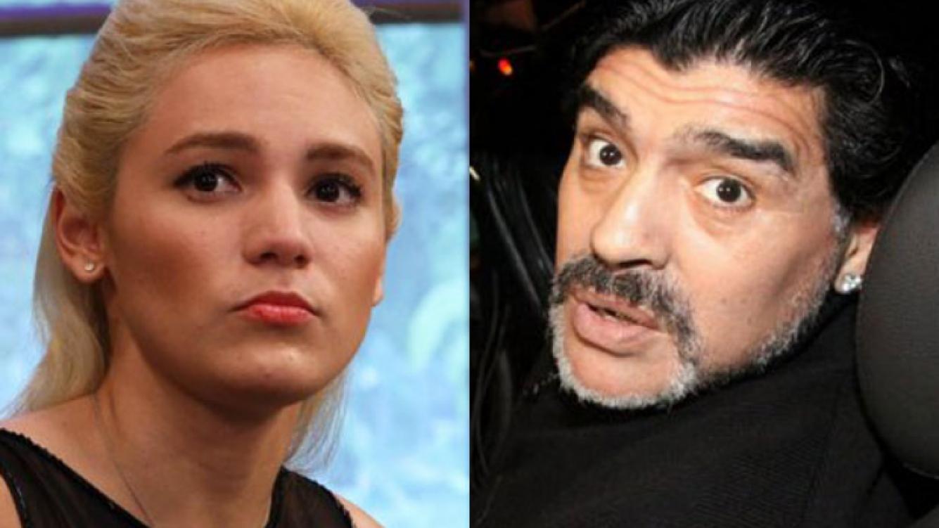 Rocío Oliva vs. Diego Armando Maradona: imposible llevar la cuenta de los rounds (Fotos: Web).