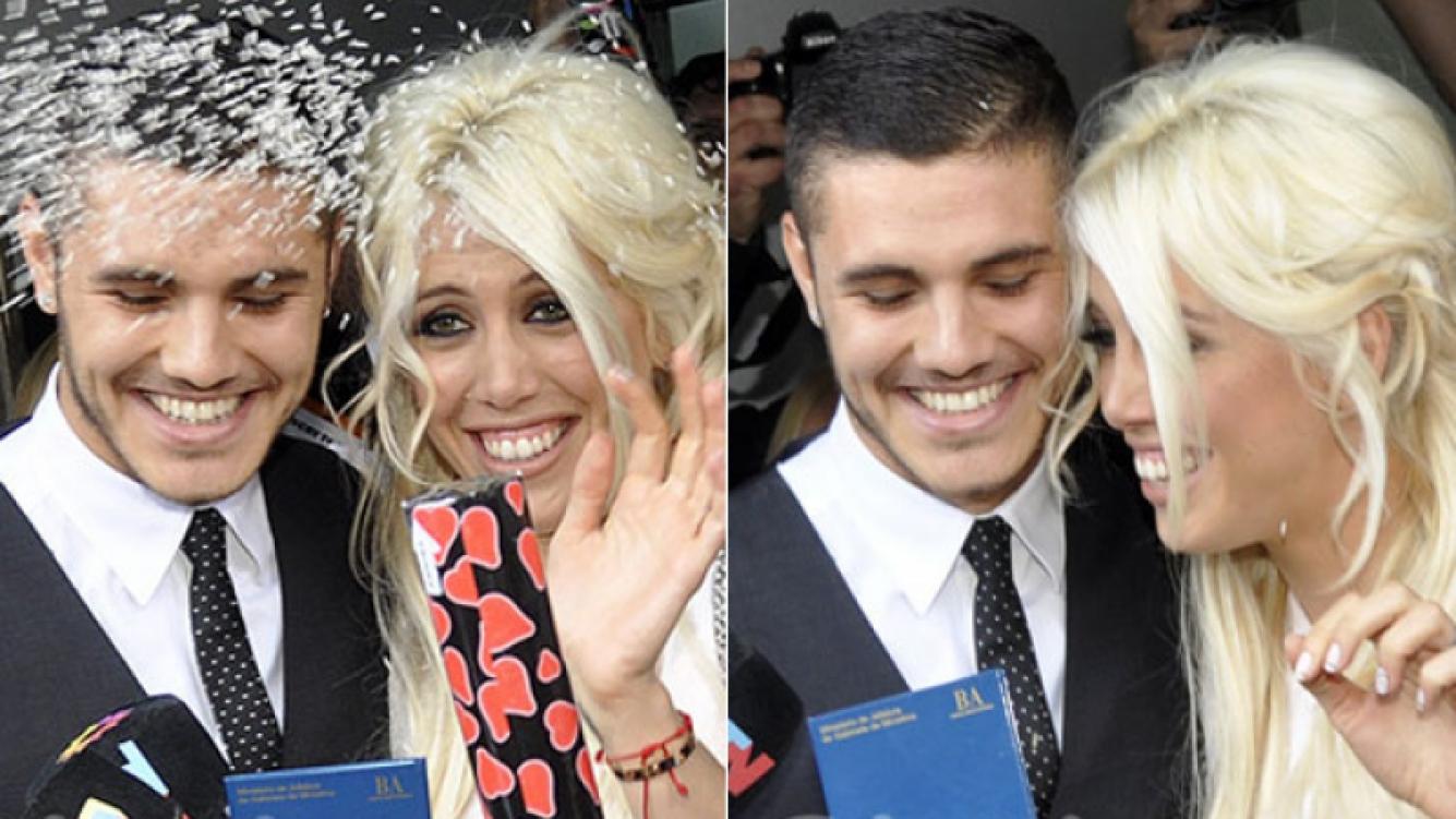 Wanda Nara y Mauro Icardi se casaron por civil. (Fotos: Jennifer Rubio-Ciudad.com)