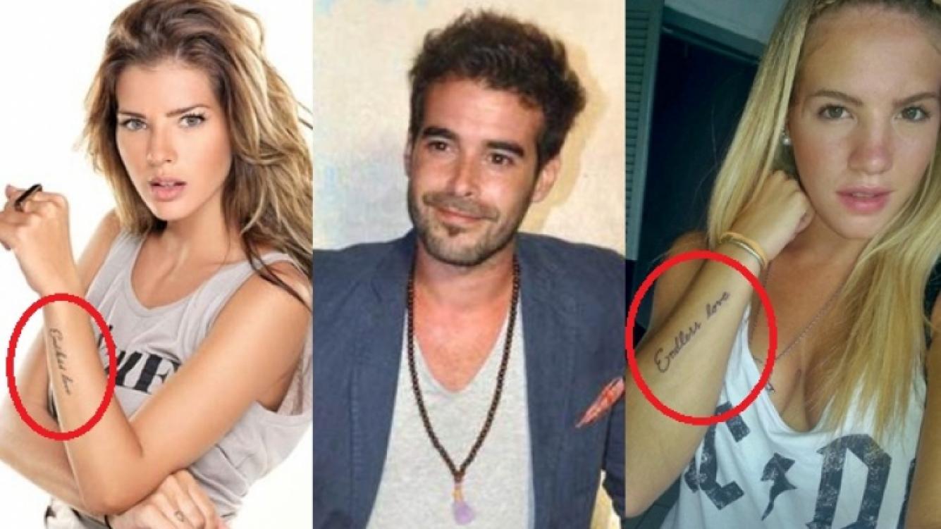 Sofía Savoy y la China Suárez, mismo tatuaje, ¿mismo amor? (Fotos: Web)