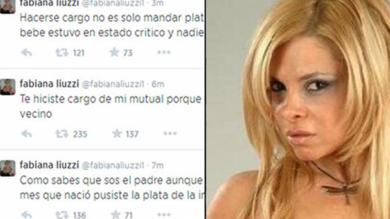 Fabiana Liuzzi y una catarata de tweets contra Luis Ventura: