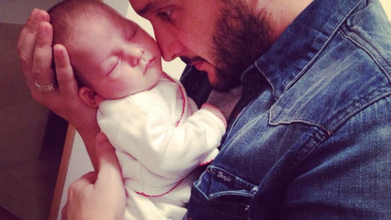 Germán Paoloski y su hijo, León. (Foto: Twitter)