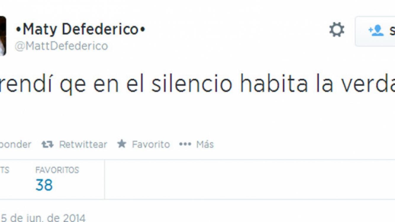 Mensaje de Matías Defederico, rumores de crisis (Foto: Twitter)