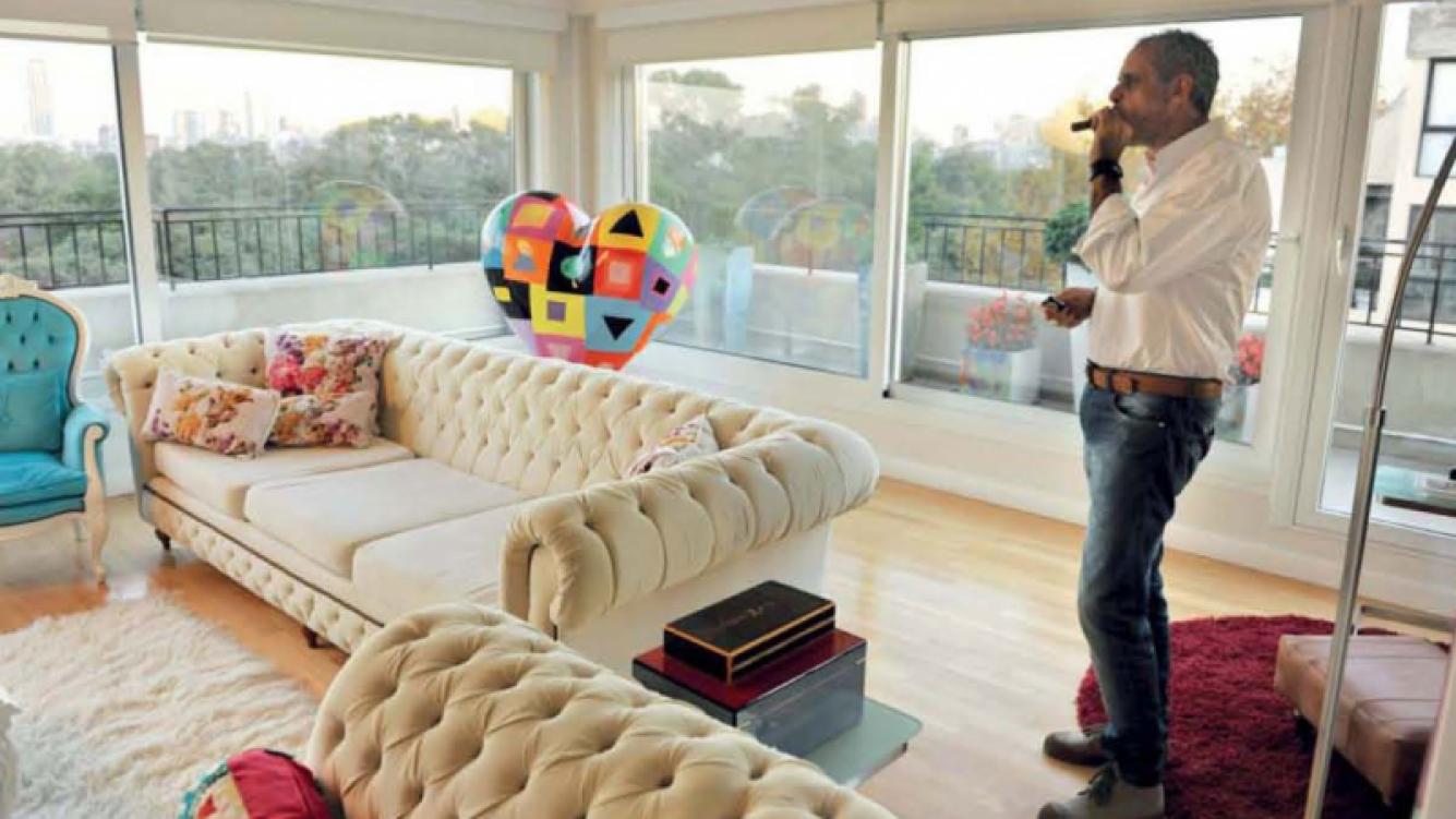 La imponente casa de Jorge Rial. (Foto: revista Gente)