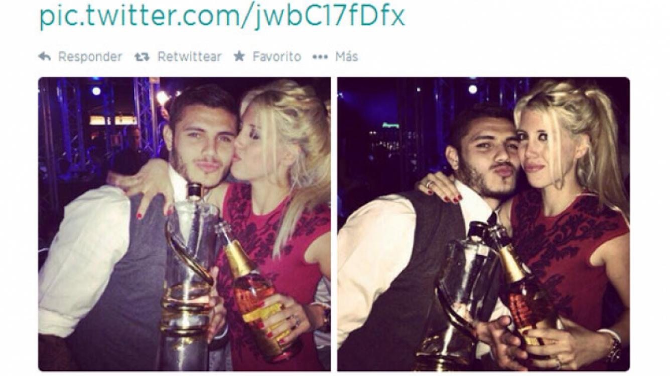 Wanda y Mauro compartieron en la Web una foto de su festejo (Foto: Twitter).