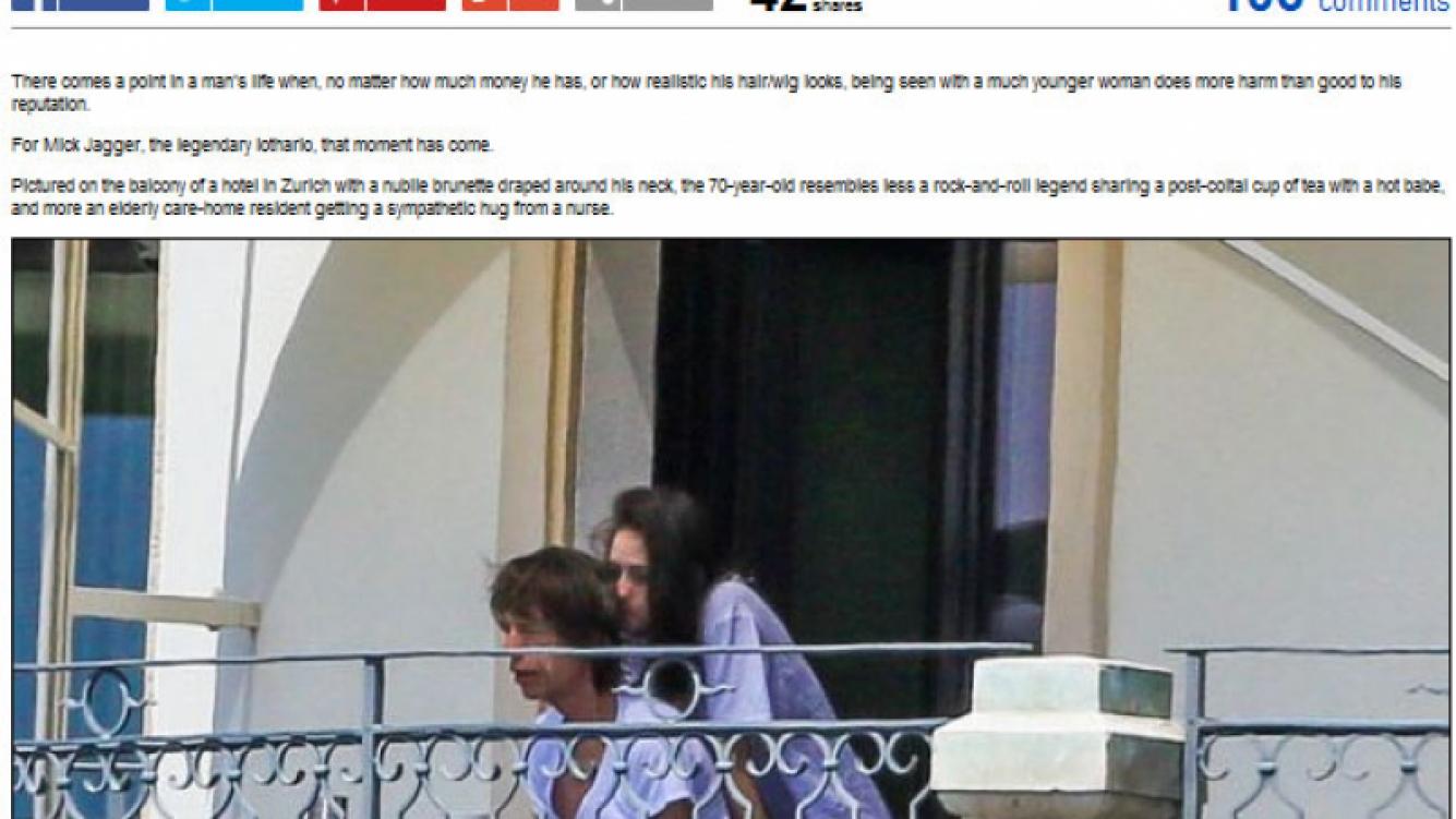 Mick Jagger terminó su luto y se refugia en los brazos de una joven morocha. (Foto: Daily Mail)