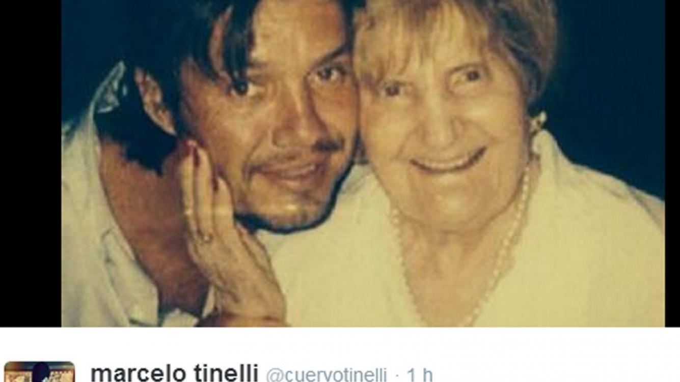 Marcelo Tinelli y su abula. (Foto: Twitter)