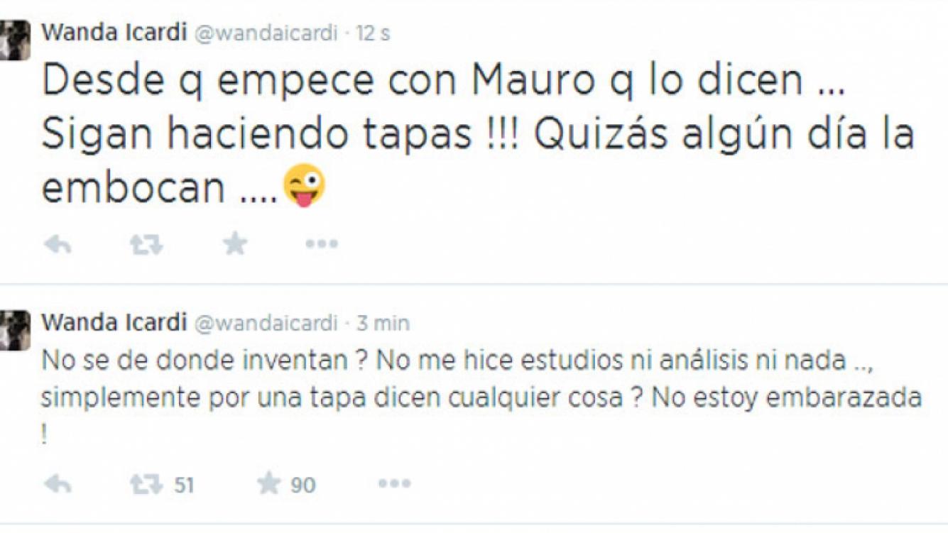 Wanda Nara y su aclaración en Twitter tras los rumores (Foto: Captura).