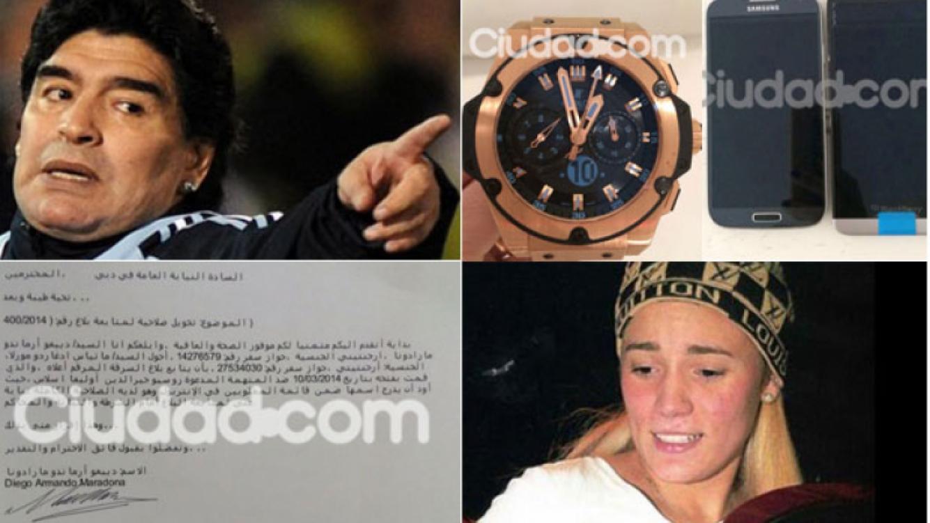 La denuncia y las fotos de los objetos que le habría robado. (Foto: Ciudad.com)