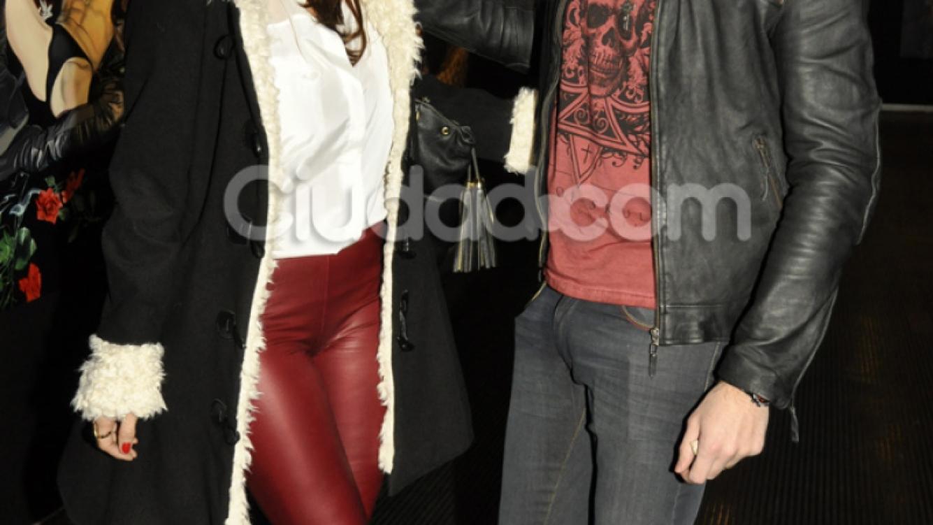María Fernanda Callejón y su marido disfrutaron de la obra (Foto: Jennifer Rubio).