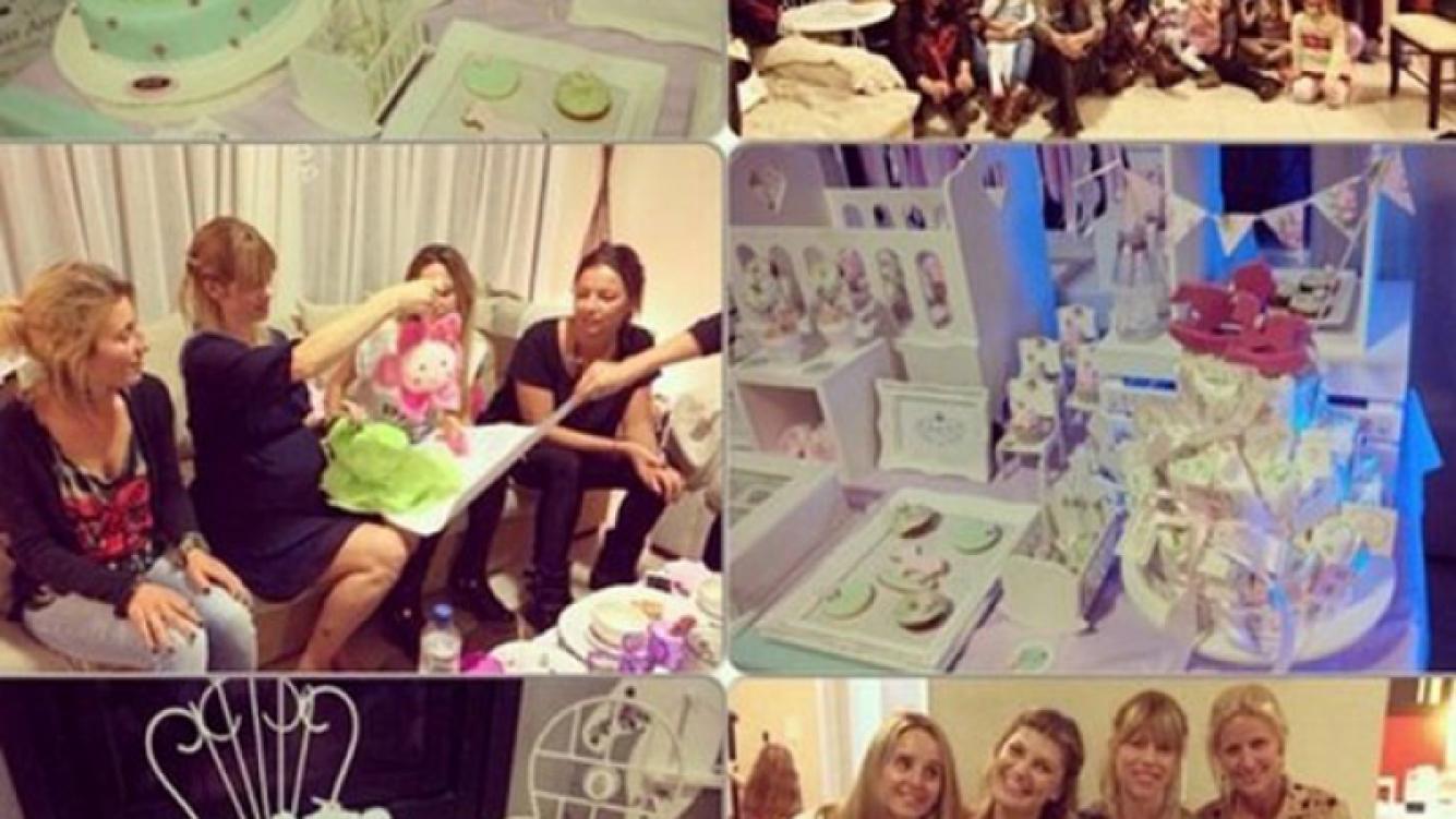 Nicole Neumann celebró su baby shower junto a sus amigas (Fotos: Instagram).