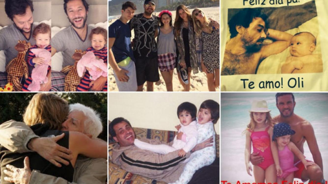 Día del Padre: los tiernos mensajes y fotos de los famosos. (Fotos: Twitter)