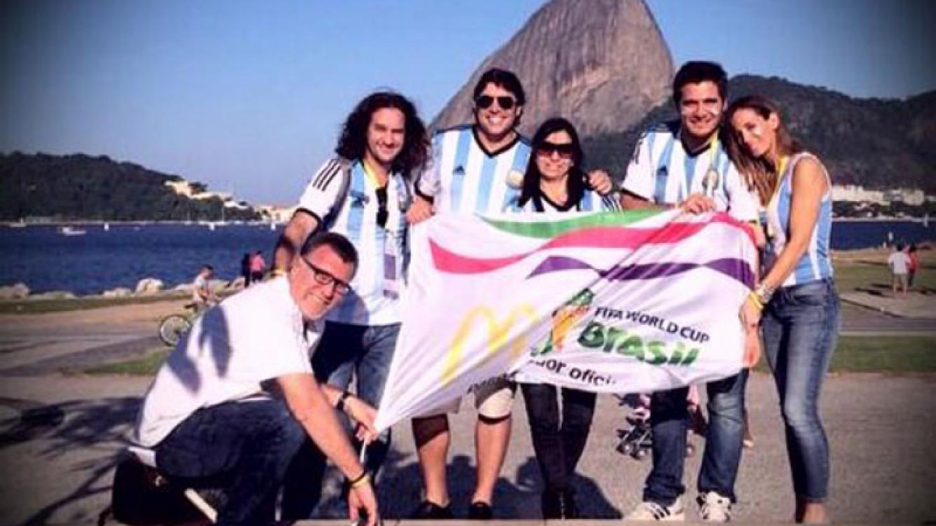 Matías Alé, en el Mundial Brasil 2014. (Foto: Twitter)