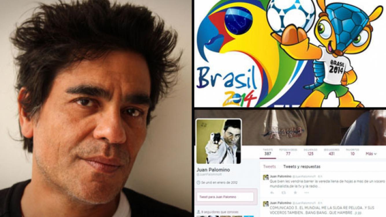 """Juan Palomino y sus tweets """"antimundial"""". (Foto: Web y Twitter)"""