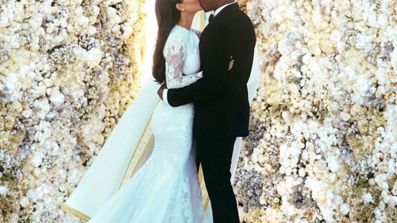 Kim Kardashian y Kanye West: la foto de la boda les llevó… ¡4 días de preparación! (Foto: Instagram: Kim Kardashian)