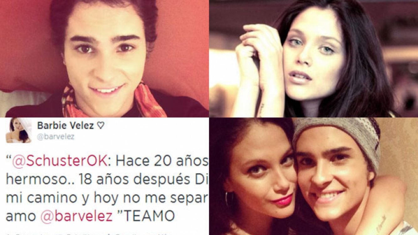 Augusto Schuster y Barbi Vélez, súper enamorados (Fotos: Twitter).