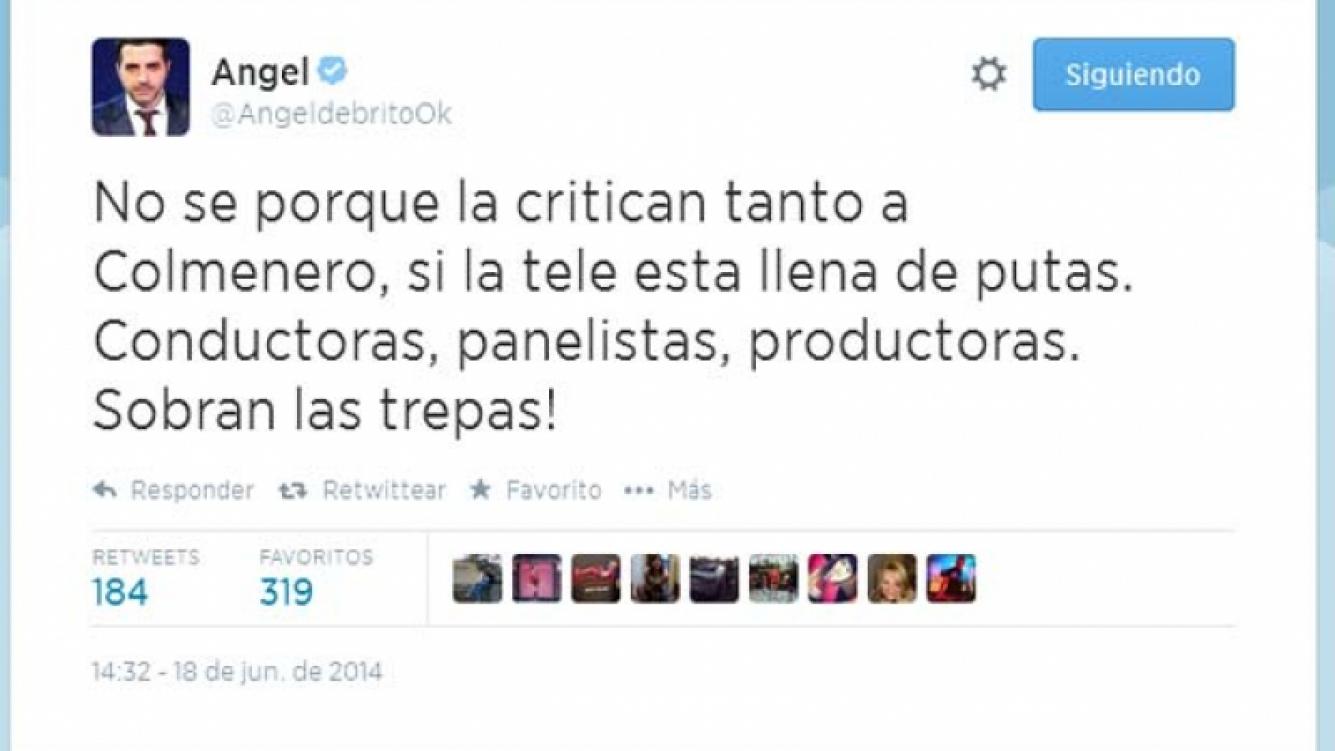 Angel de Brito explotó en Twitter. (Foto: Web)