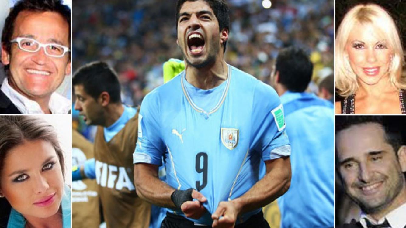 Uruguay le ganó 2 a 1 a Inglaterra. (Fotos: Web y FIFA.COM)