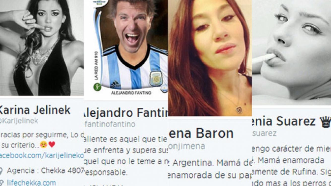 Los famosos y sus curiosos cambios de biografías en Twitter (Fotos: Capturas).