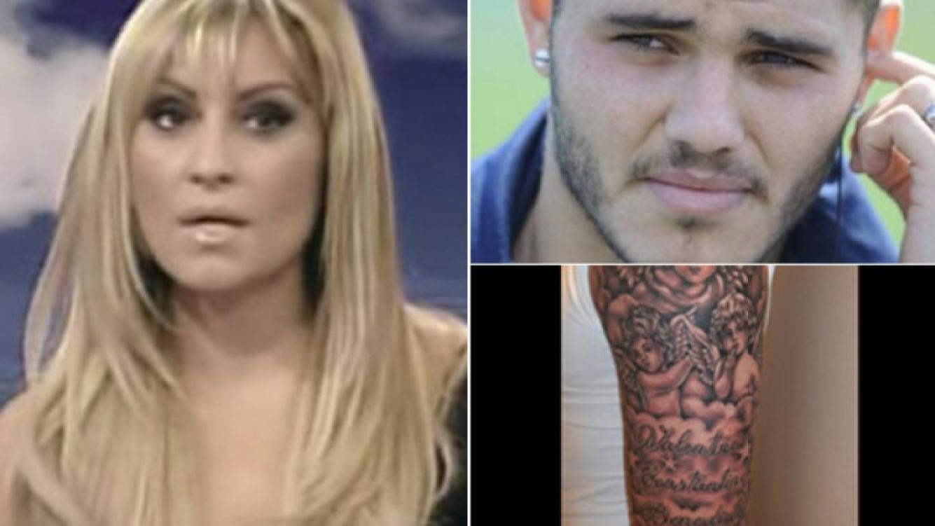 Marcela Tauro opinó del tatuaje de Icardi y Mauro le contestó agresivamente. (Fotos: Captura TV, Web y Twitter)