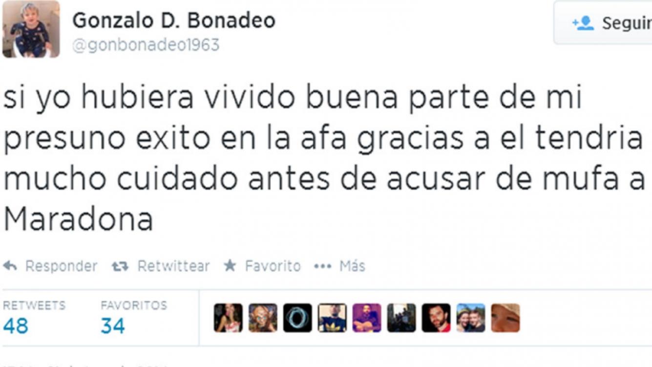 Gonzalo Bonadeo opininó de Grondona y Maradona (Foto: Twitter)