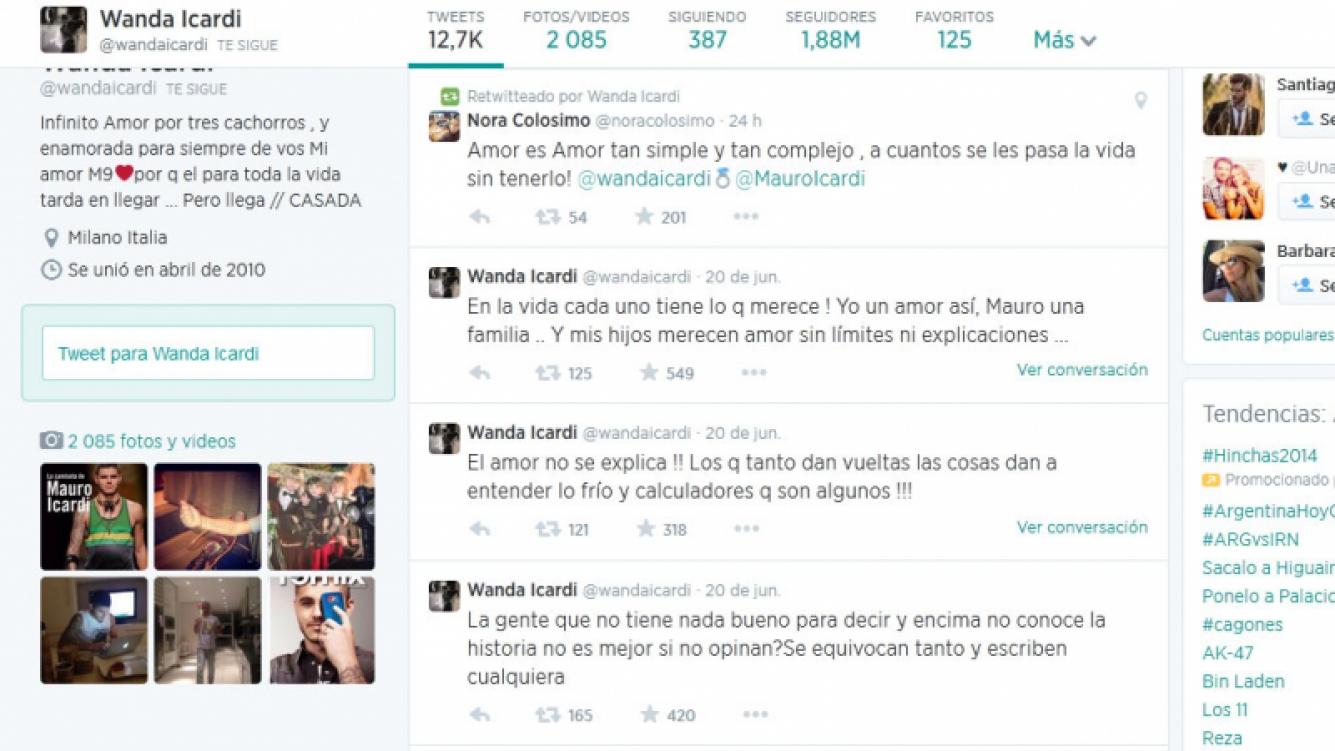 Wanda Nara salió a bancar a Mauro Icardi. (Foto: Twitter @wandaicardi)
