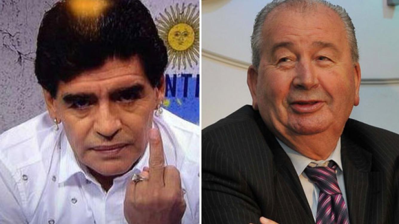 Diego Maradona contra Julio Grondona. (Foto: captura de TV y Web)
